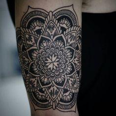half sleeve mandala tattoo