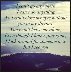 I see you- Luke Bryan, favorite song that hits deep.