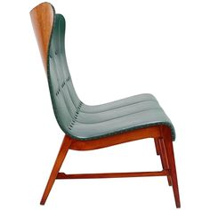 Mid-Century Modern Wingback Sofa or Bench by Axel Larsson, circa 1950
