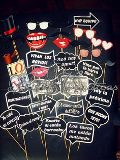 Photo Booth Props Photo Shoot Casamientos-cumpleaños-eventos $250 cU5Bd - Precio D Argentina My Perfect Wedding, Our Wedding, Ideas Aniversario, Wedding Planer, Rock Star Party, Photo Booth Backdrop, 20th Birthday, Ideas Para Fiestas, Fiesta Party