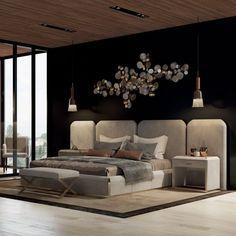 Luxurious bedrooms - Luxury Italian Bed With Wide Nubuck Leather Headboard Headboard Designs, Sanctuary Bedroom, Luxury Furniture, Living Room Decor, Luxurious Bedrooms, Leather Headboard, Italian Bed, Luxury Bedding, Luxury Bedroom Master