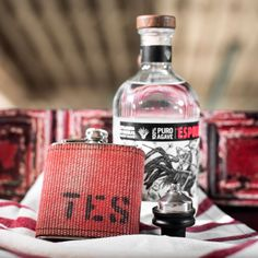 Repurposed Fire Hose Stainless Steel Flask