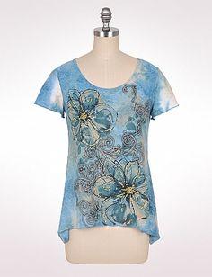 Embellished Flower Jacquard Top | Dressbarn