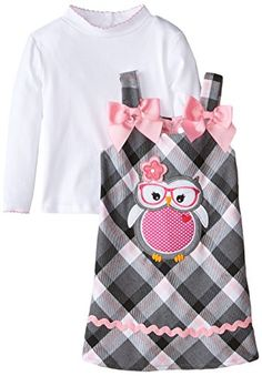 Youngland Little Girls' Owl Applique Poly Plaid Jumper Dress, Grey, 2T Youngland http://www.amazon.com/dp/B00ZX3YOWO/ref=cm_sw_r_pi_dp_GG9Nwb0GS5DN0