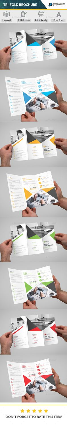141 Best Trifold Brochure Templates Designs Images On Pinterest
