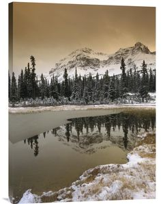 Canadian Rocky Mountains Dusted in Snow | Explosion Luck | Unique Gifts for Men & Women, Feng Shui Art