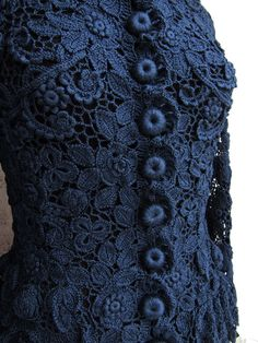 "Ирландское кружево. Шёлковый жакет ""Татьяна"" – Ярмарка Мастеров Crochet Jacket, Crochet Cardigan, Irish Lace, Irish Crochet, Crochet Clothes, Crochet Stitches, Lace Shorts, Crocheting, Clothes For Women"