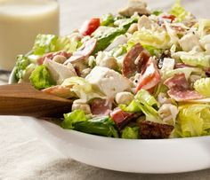 #Recipe:  Italian Chopped Salad with Creamy Garlic Vinaigrette
