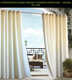 """Outdoor Decor Gazebo Grommet Outdoor Curtain Panel - Natural 50"""" X 108"""" #shopping #plans #outdoor #drone #tech #gadgets #curtain #kit #gazebo #products #camera #technology #racing #parts #decor #fpv"""