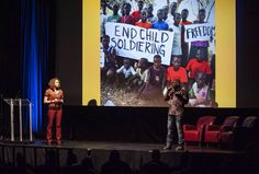 Ava Vanderstarren and Fazineh Keita speaking about child soldiers and Innocence Lost Foundation at BIL 2015 in Vancouver.