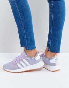 Shop adidas Originals FLB Primeknit Trainer In Lilac at ASOS. 9d91b08b8