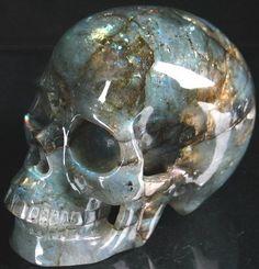 Labradorite Crystal Skull,