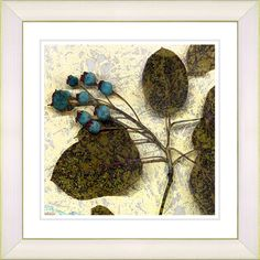 Oyster Olive Berry Time by Zhee Singer Framed Fine Art Giclee Painting Print
