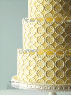 Image detail for -yellow wedding cake