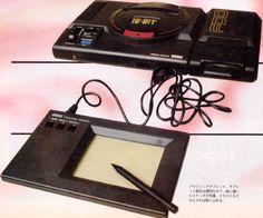 Sega Mega Drive tablet prototype Sega Retro, Sega Master System, Sega Mega Drive, Nintendo Consoles, Games Consoles, Games Box, Game Controller, Sega Genesis, Gaming Computer