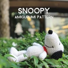 Snoopy Amigurumi Pattern [Crochet-Eng ver.]