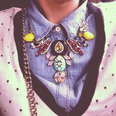 Layering // outfit details // statement necklace // @Lauren_Elan Instagram