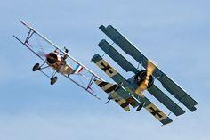 Fokker Dr.I and Nieuport 17 Scout  #biplane #WW1: