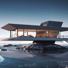 The Beach House concept by Ioan Ralea-Toma. Cantilever Architecture, Architecture Panel, Modern Architecture House, Concept Architecture, Residential Architecture, Modern House Design, Amazing Architecture, Interior Architecture, Architecture Portfolio