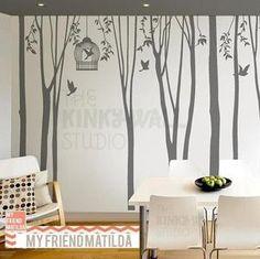 grey tree decals