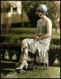 Color photography was rare in the silent era This photo of Clara Bow is one of the very few of her in color known to exist.