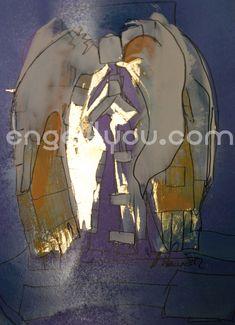 Bild in Acrylfarben gemalt, Unikat, ca 21 x 29,7, teilweise mit Blattgold veredelt, handsigniert. weitere Info´s: engel4you.com Master Chief, Fictional Characters, Art, Cubism, Gold Leaf, Xmas Pics, Guardian Angels, Art Background, Kunst