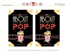 """free printables by HWTM - """"A Star is Born"""" Hollywood Baby Shower"""