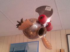 Love this! Recycled fish art