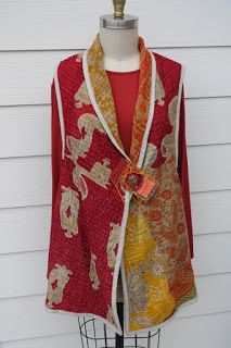 Made by Rae Dollard from a kantha quilt, Cacicedo Coat pattern published by Diane Ericson Design