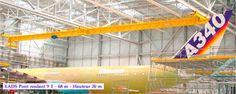 Instalación de grúas GH Cranes & Components en el sector aeronáutico.