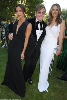 Victoria Beckham Takes Son Brooklyn as Her Date to Elton John's Charity Event: Photo Victoria Beckham poses for a photo with her son Brooklyn at the Argento Ball for the Elton John AIDS Foundation on Wednesday (June in Windsor, England.