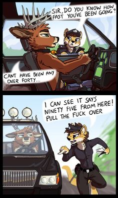 Traffic Cats - by Cerberus. If the deer hits a wild human this is officially the greatest thing in the world.
