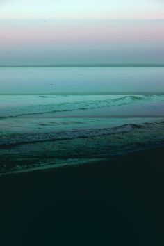 Waves - Pale to dark jade tones with shot of pale plae mauve.