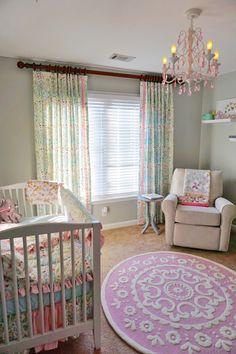 Feminine Pink and Blue Nursery - Project Nursery