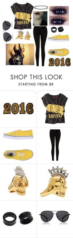 """Happy New Year"" by abipatterson ❤ liked on Polyvore featuring Lucky Star, Chicnova Fashion, Vans, Current/Elliott, Alexander McQueen, NOVICA, The Row and newyear"
