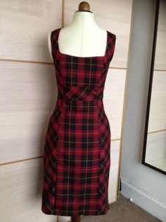 Wool tartan made from vogue 8648