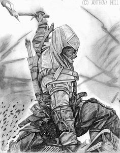 Cool Assassin's Creed Drawings | assassin s creed 3 by wanted75 fan art traditional art drawings games ...