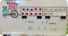 Train math with ten-frame cars