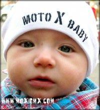 MOTO X BABY Skullcap- Oh Grandpa will be thrilled!