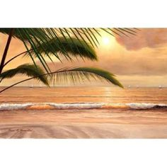 Sunset Surf Canvas Art - Diane Romanello (12 x 18)