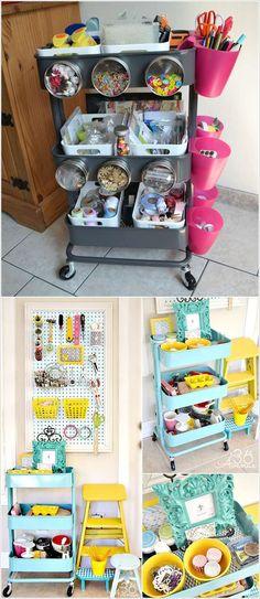 IKEA Rolli als Crafting Storage, Putz-, Wasch- oder Backutensilo, Nachttisch oder Bücherwagen fürs Kinderzimmer