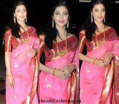 Gaurang Shah Pink Chanderi Saree