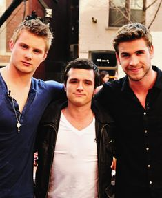 Alexander Ludwig, Josh Hutcherson & Liam Hemsworth. This picture is the definition of perfection