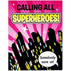 Superhero Girl Invitations from BirthdayExpress.com