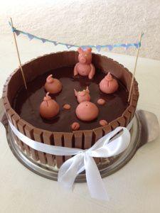 Schweinchen im Schlamm Torte