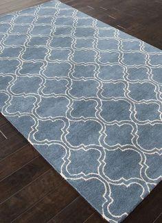 Jaipur Rugs RUG111724 Hand-Tufted Durable Wool/ Art Silk Blue/Ivory Area Rug ( 3.6X5.6 )