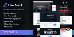 LiveEvent is a dedicated Wordpress theme for conference, meeting and event websites. The purpose oriented design, responsive layout and brilliant premade design concepts to represent content in sma...