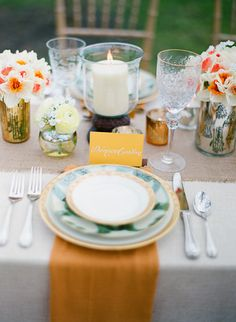"""Hunger Games"" Themed Wedding love the placesettings"