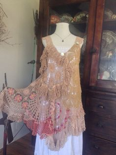 Luv Lucy Croche dress /tunic Lucys  Spring by LuvLucyArtToWear, $250.00