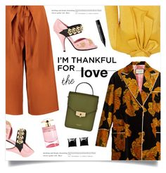 """""""I'm Thankful For..."""" by marina-volaric ❤ liked on Polyvore featuring Gucci, Prada, Boohoo, Blue Vanilla, Avenue 67, Witchery, NYX and thanksgiving"""